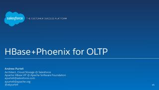 HBase+Phoenix for OLTP