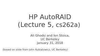 HP AutoRAID