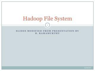 Hadoop文件系统