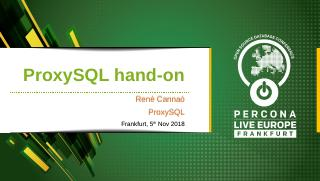 Hands on ProxySQL