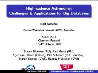 High-cadence Astronomy: Challenges & Applicat...