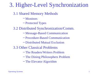 03-Higher-Level Synchronization