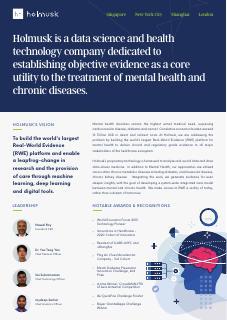 Holmusk - AI in Healthcare
