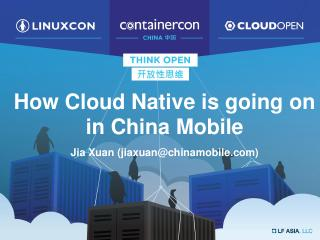 How is Cloud Native Going at China Mobile?