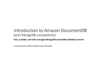 How to use Amazon DocumentDB