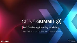 IaaS Marketing Planning Workshop
