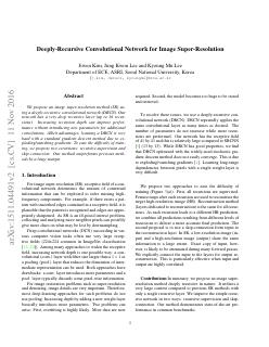 Deeply-Recursive Convolutional Network for Im...