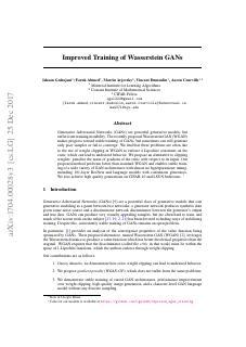 Improved Training of Wasserstein GANs