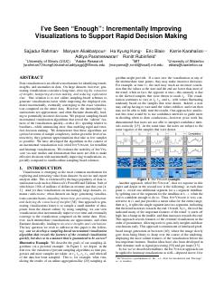 Improving Visualizations to Support Rapid Dec...