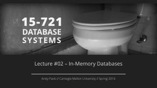 In-Memory Databases