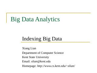 Indexing Big Data