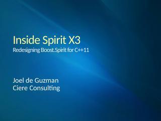 Inside Spirit X3