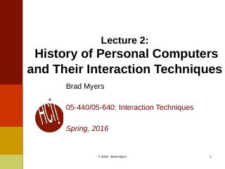 02InteractionTechnique--History of Personal C...