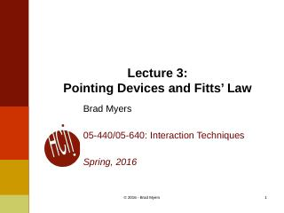 03InteractionTechnique--Pointing Devices and ...