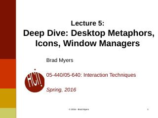 05InteractionTechnique--Desktop Metaphors, Ic...