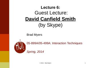 06InteractionTechnique-- Guest Lecture:David...