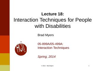 18InteractionTechnique--Disabilities