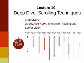 10InteractionTechnique--Scrolling Techniques