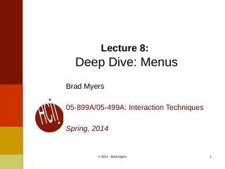 08InteractionTechnique--menus