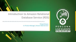 Introduction to Amazon Relational Database Se...