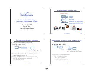 网络、(进程和线程)并发的简介