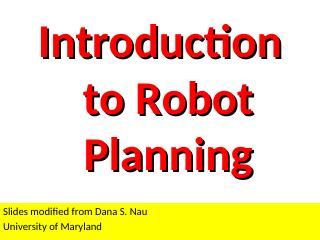 015-Introduction to Robot Planning