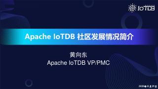 【IoTDB Meetup】社区发展情况简介