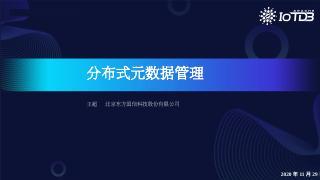 【IoTDB Meetup】分布式元数据管理