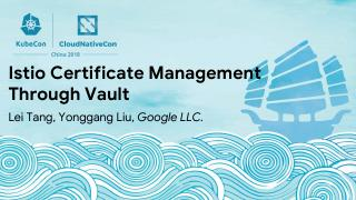 通过 Vault 进行 Istio 证书管理
