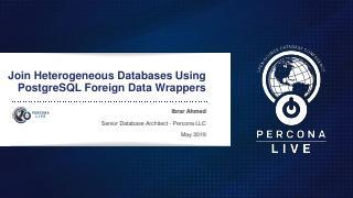使用PostgreSQL外部数据包装器加入...