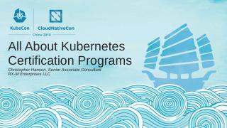 所有关于 Kubernetes 的认证项目...