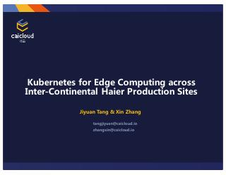 Kubernetes for Edge Computing across Inter-Co...