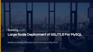 大规模部署用于MySQL的SSL/TLS