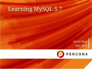 Learning MySQL 5.7