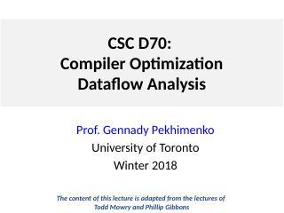 Lecture 2 数据流
