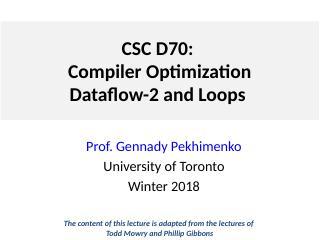 Lecture 3 数据流与循环