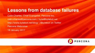 Lessons from database failures