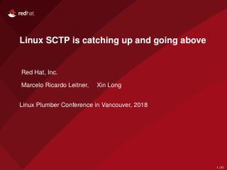 Linux SCTP is catching up and going above