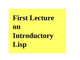 Lisp 1 structures and functions