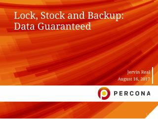 Lock Stock and Backup: Data Guaranteed