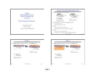 操作系统之程序锁、信号量、临界区