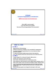 MIPS指令集架构