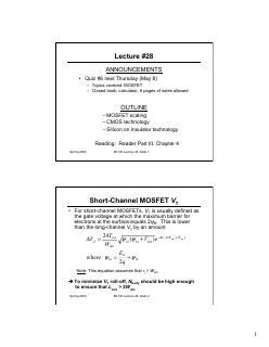 CMOS工艺与MOSFET结构