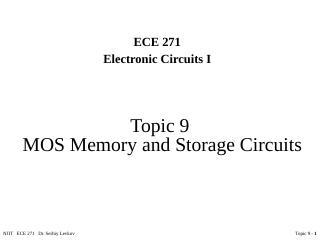 MOS存储器和存储电路