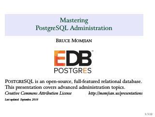 Mastering PostgreSQL Administration