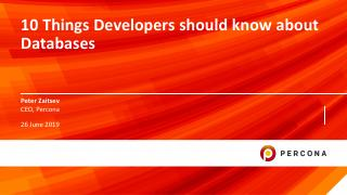 Meetup SPB 10 Things Developers Should Know A...