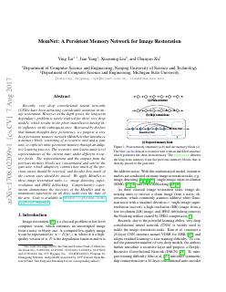 MemNet: A Persistent Memory Network for Image...
