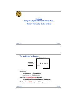 内存层次结构:缓存系统