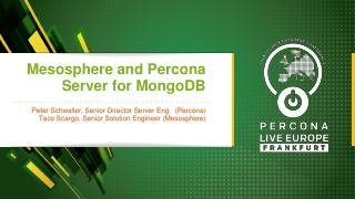 Mesosphere and Percona Server for MongoDB