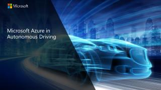 Microsoft Azure in Autonomous Driving
